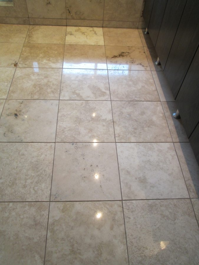 After: Travertine Light Polish in Gilbert | Light Polish | Travertine | Baker's Travertine Power Clean