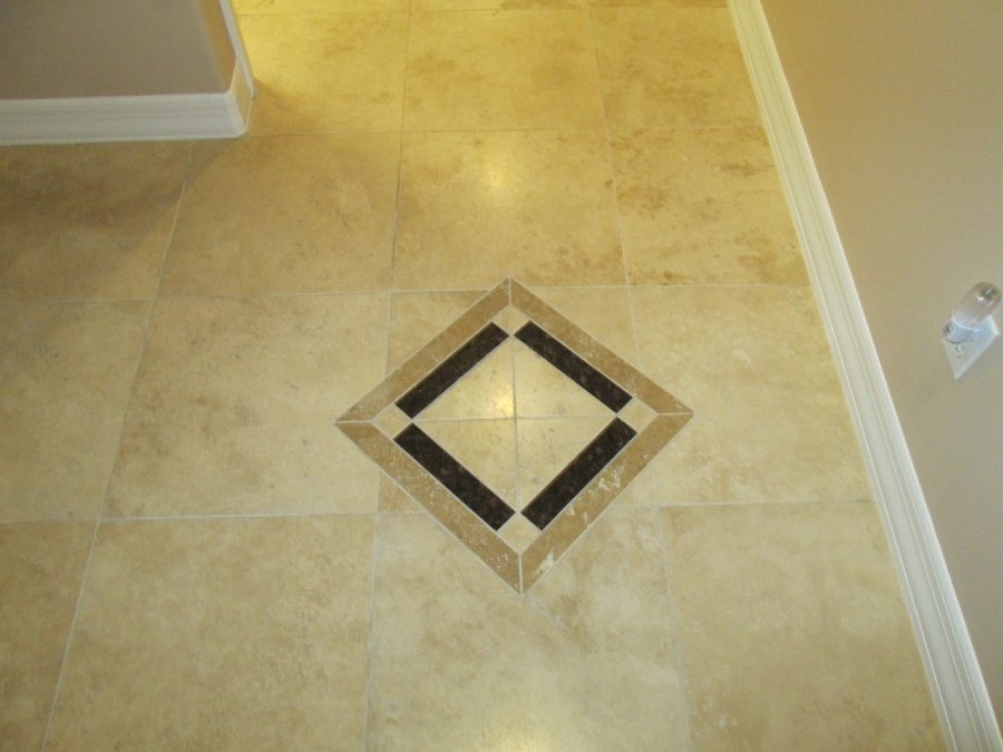 Before: Travertine in San Tan Valley | Light Polish | Travertine | Baker's Travertine Power Clean