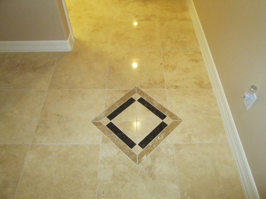 After: Travertine Light Polish in San Tan Valley | Light Polish | Travertine | Baker's Travertine Power Clean