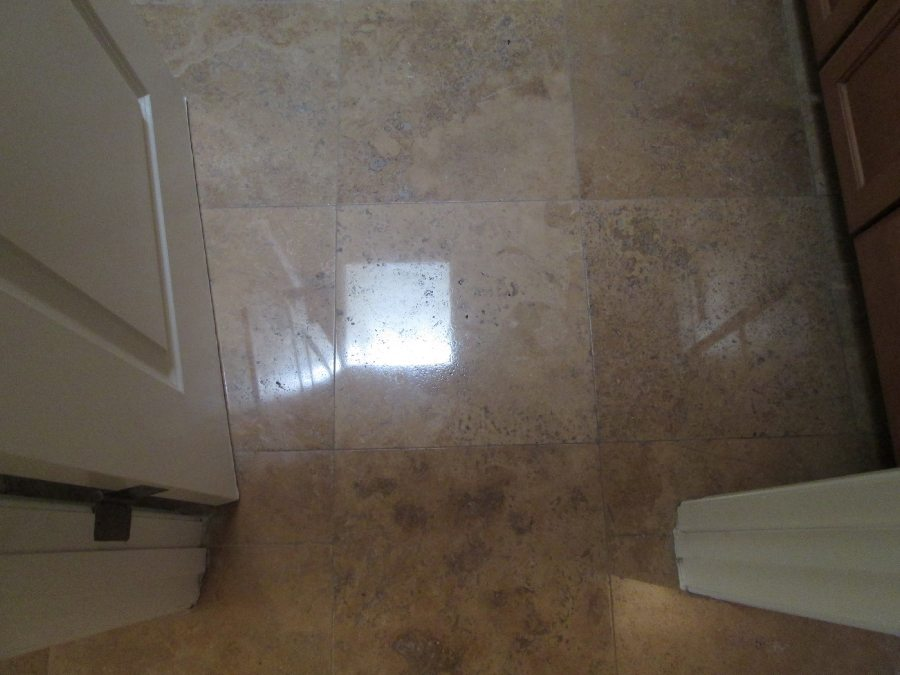 After: Travertine Light Polish in Tempe | Light Polish | Travertine | Baker's Travertine Power Clean