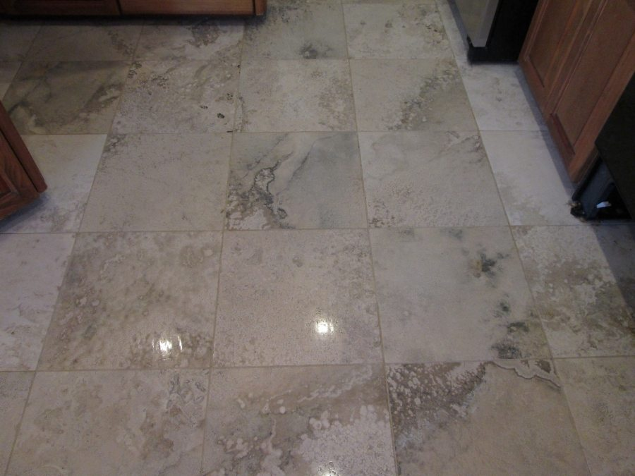 After: Travertine Light Polish in Ahwatukee | Light Polish | Travertine | Baker's Travertine Power Clean