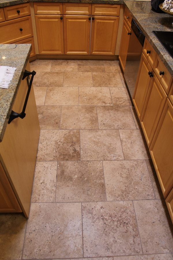Before: Travertine in South Scottsdale | Light Polish | Travertine | Baker's Travertine Power Clean