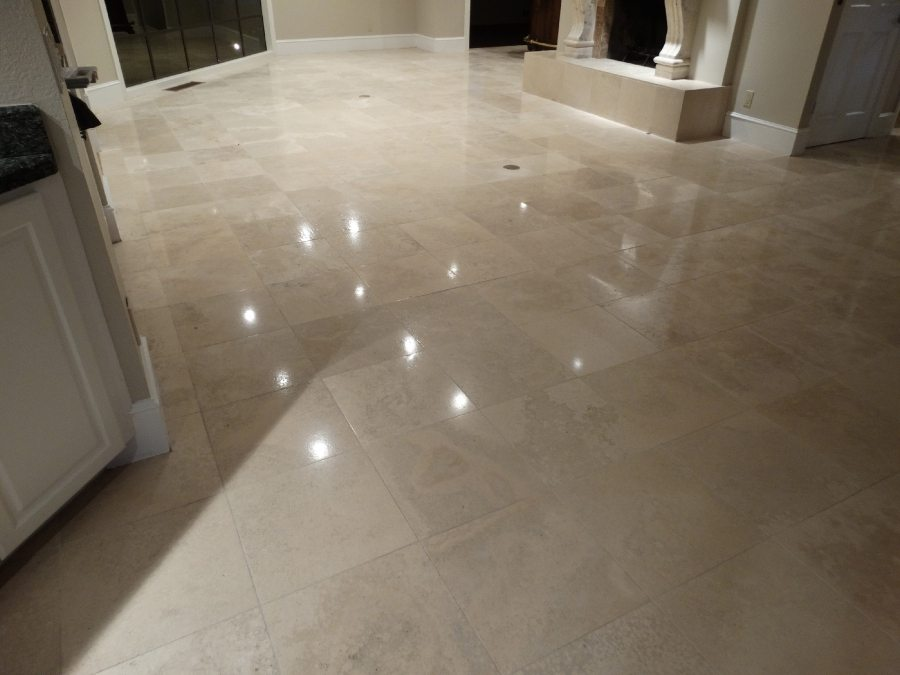 After: Travertine Light Polish in Scottsdale