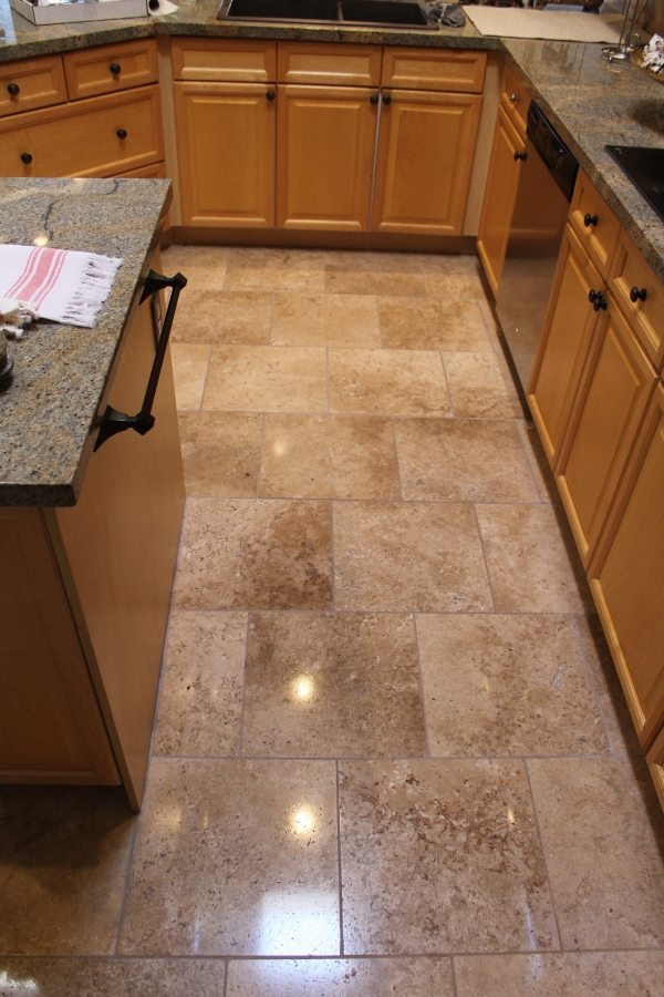 After: Travertine Light Polish in South Scottsdale | Light Polish | Travertine | Baker's Travertine Power Clean