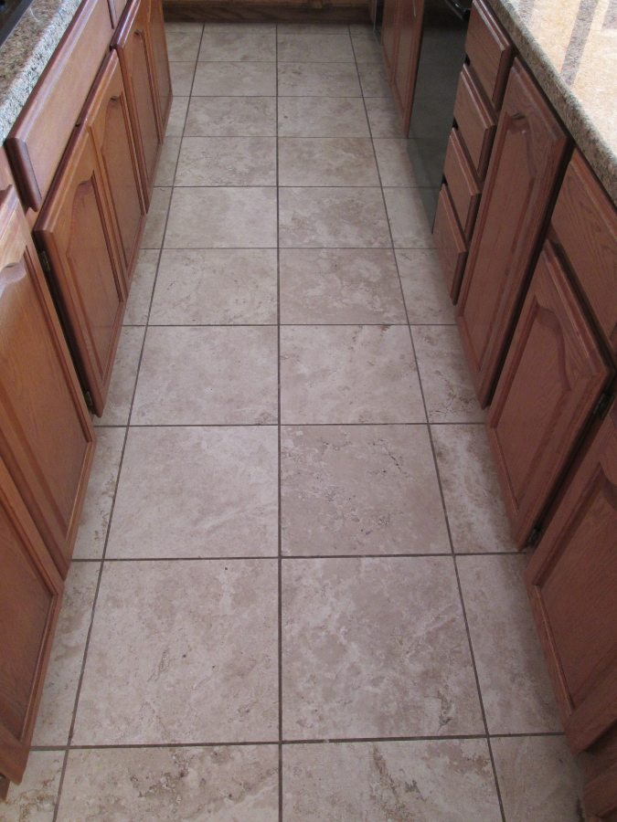 Before: Travertine in Fountain Hills | Light Polish | Travertine | Baker's Travertine Power Clean