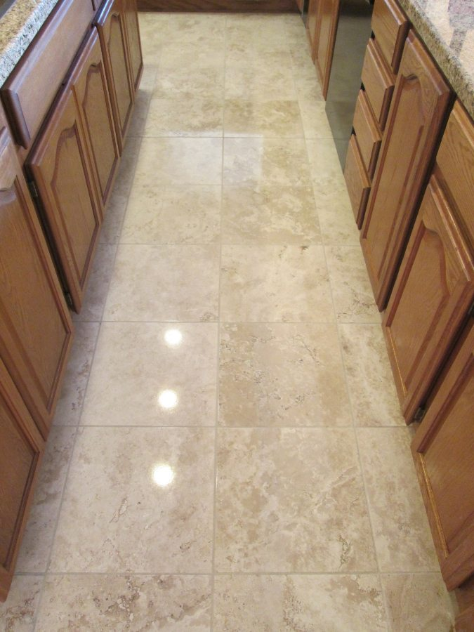 After: Travertine Light Polish in Fountain Hills | Light Polish | Travertine | Baker's Travertine Power Clean