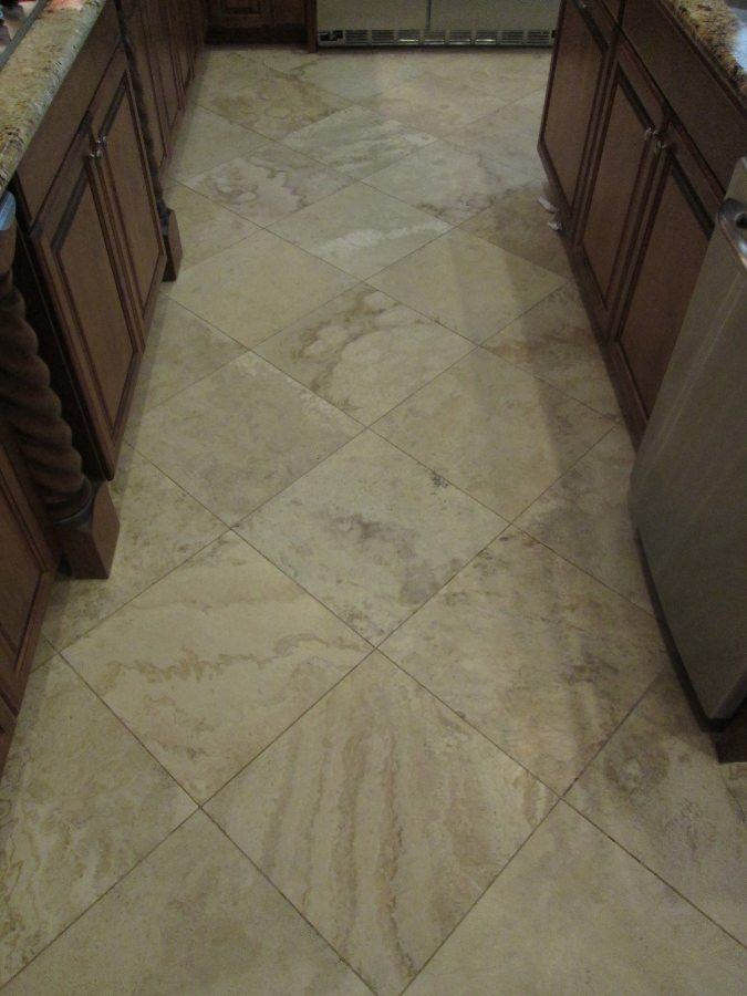 Before: Travertine in Scottsdale | Light Polish | Travertine | Baker's Travertine Power Clean