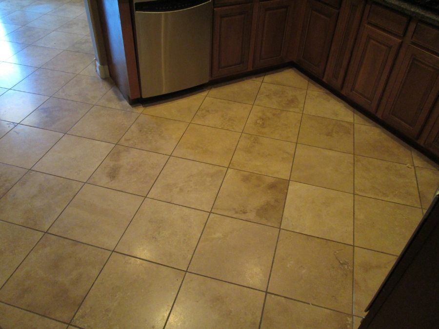 Before: Travertine in Mesa | Light Polish | Travertine | Baker's Travertine Power Clean
