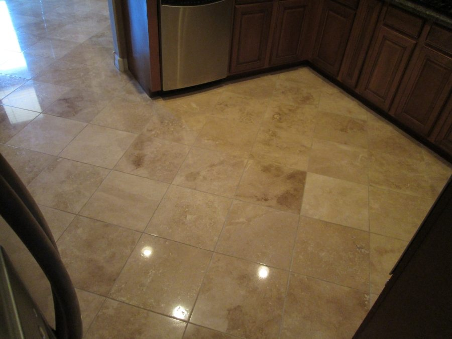 After: Travertine Light Polish in Mesa | Light Polish | Travertine | Baker's Travertine Power Clean
