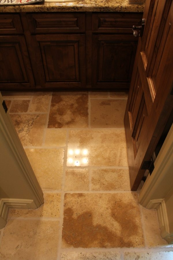 After: Tumbled travertine Light Polish | Tumbled Travertine Gallery | Travertine | Baker's Travertine Power Clean