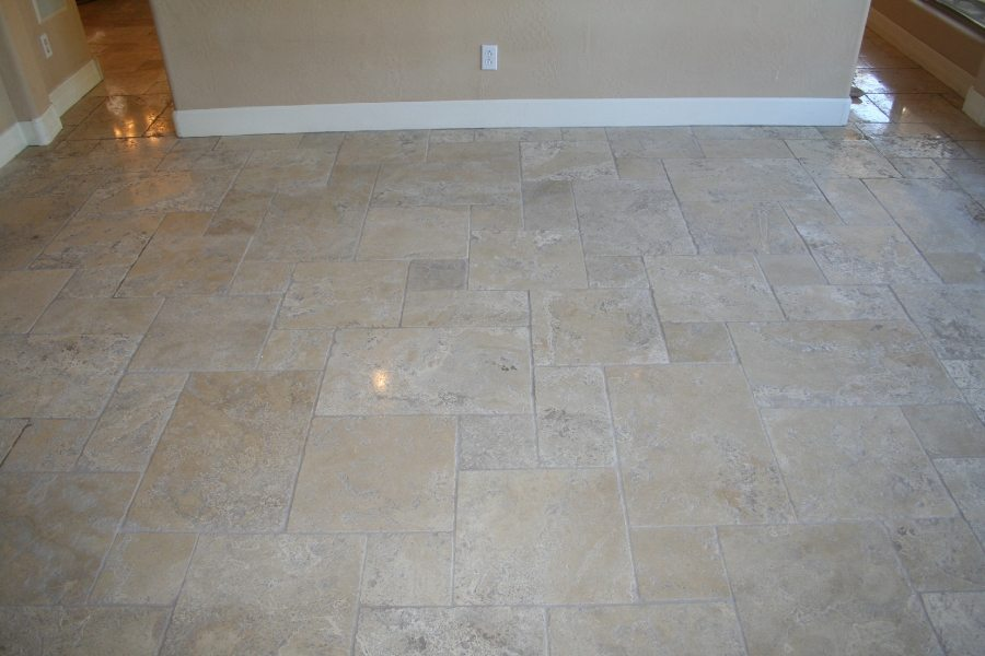 After:Tumbled travertine | Tumbled Travertine Gallery | Travertine | Baker's Travertine Power Clean