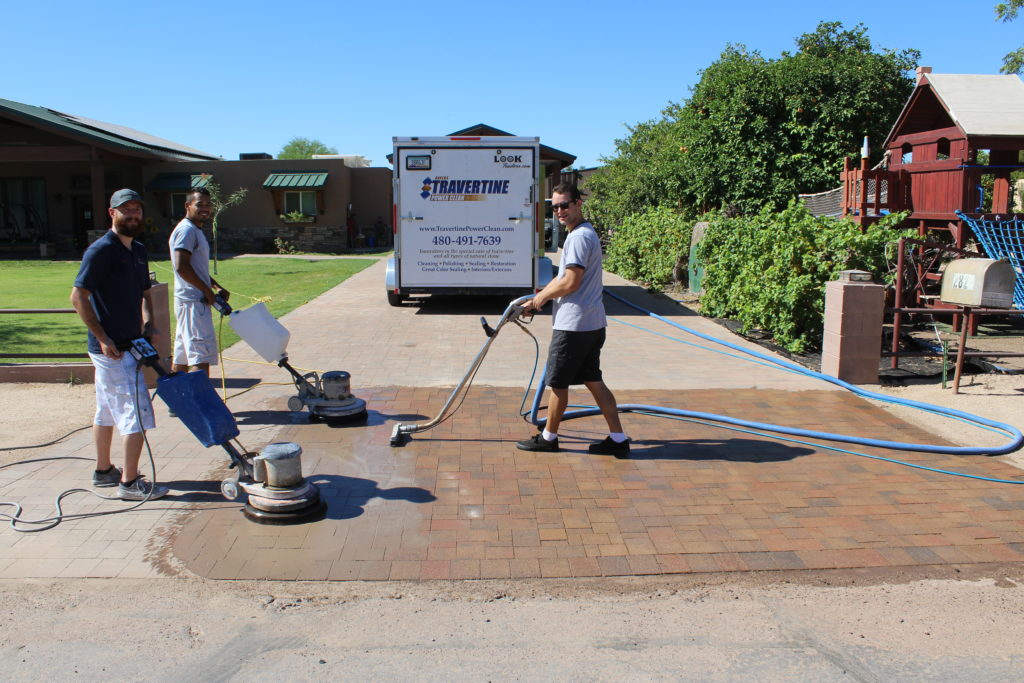 Cleaning Pavers Baker S Travertine Power Clean